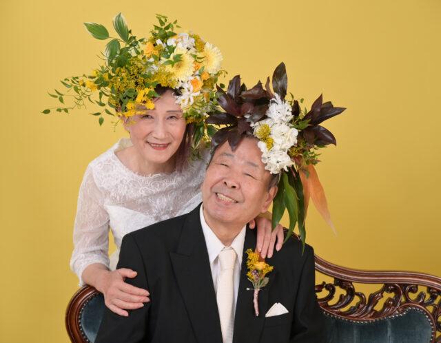 金婚式のお祝い撮影